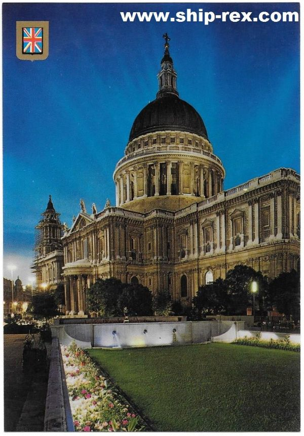 St Paul's Cathedral, London, postcard (a)